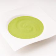 supa raw de mazare cu avocado