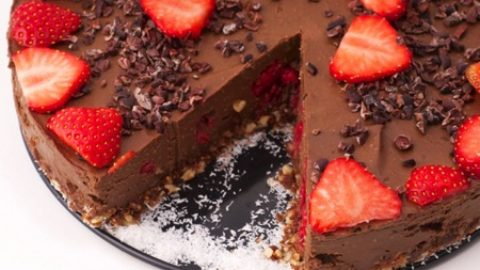 tort raw-vegan de ciocolata