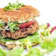burger vegan cu germeni de grau