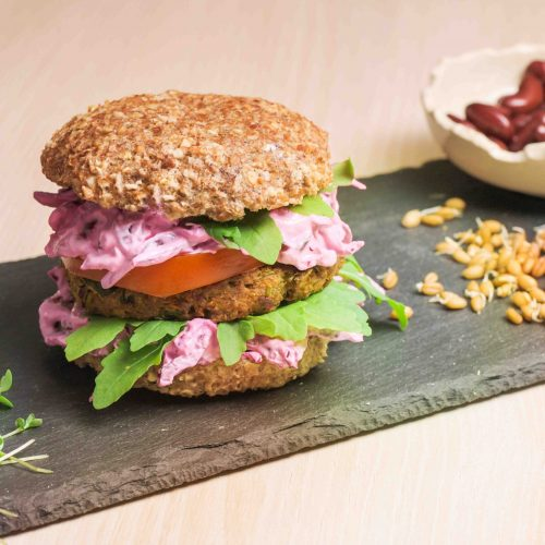 burger vegan cu germeni de grâu